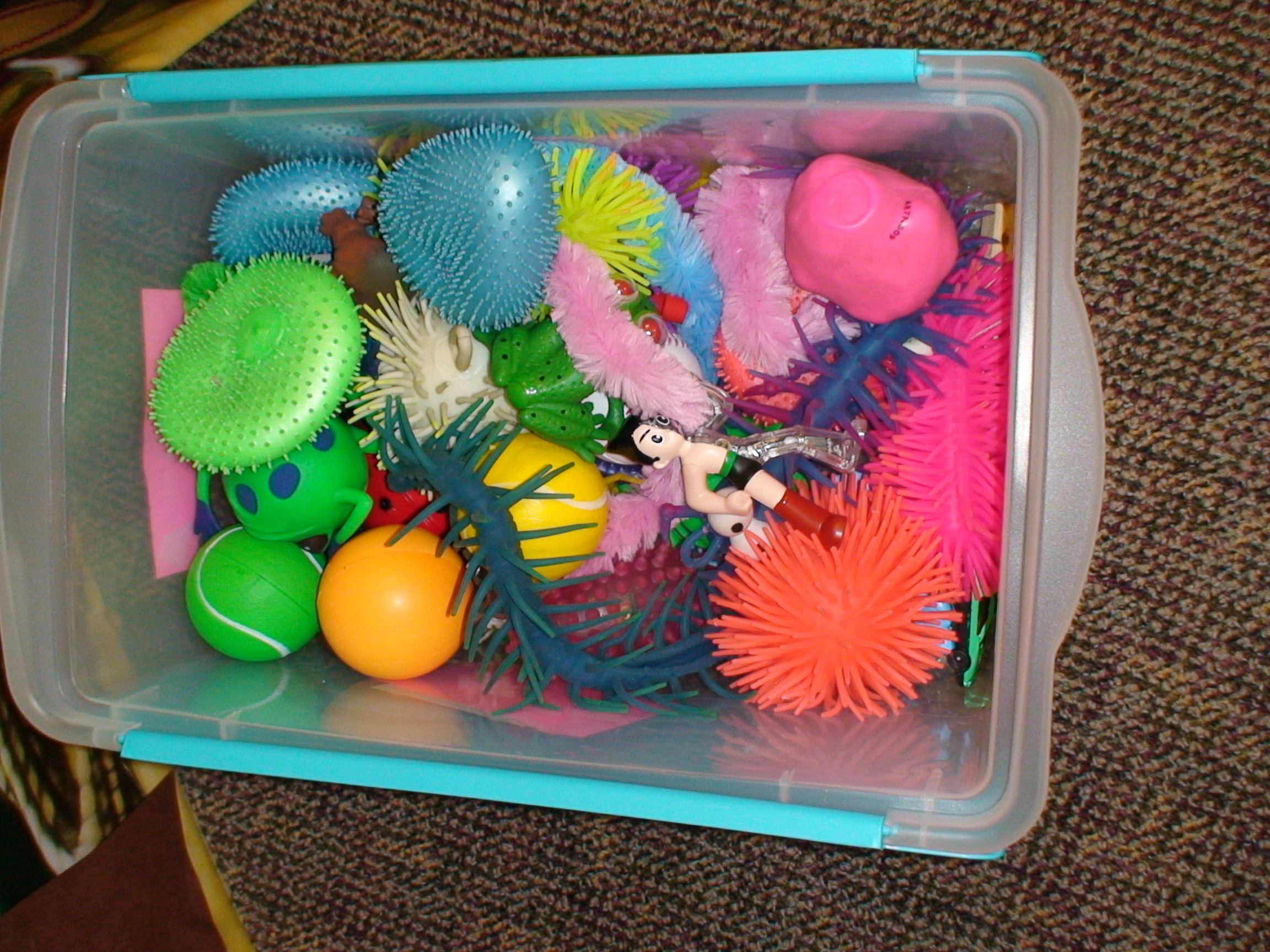 Sensory Toys For Adults : Providing a sensory toy box and how slinky can help