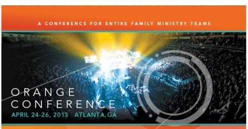 Orange Conference 13 brochure front