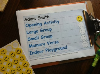 Buddy Clipboard - Smiley Face Visual Schedule
